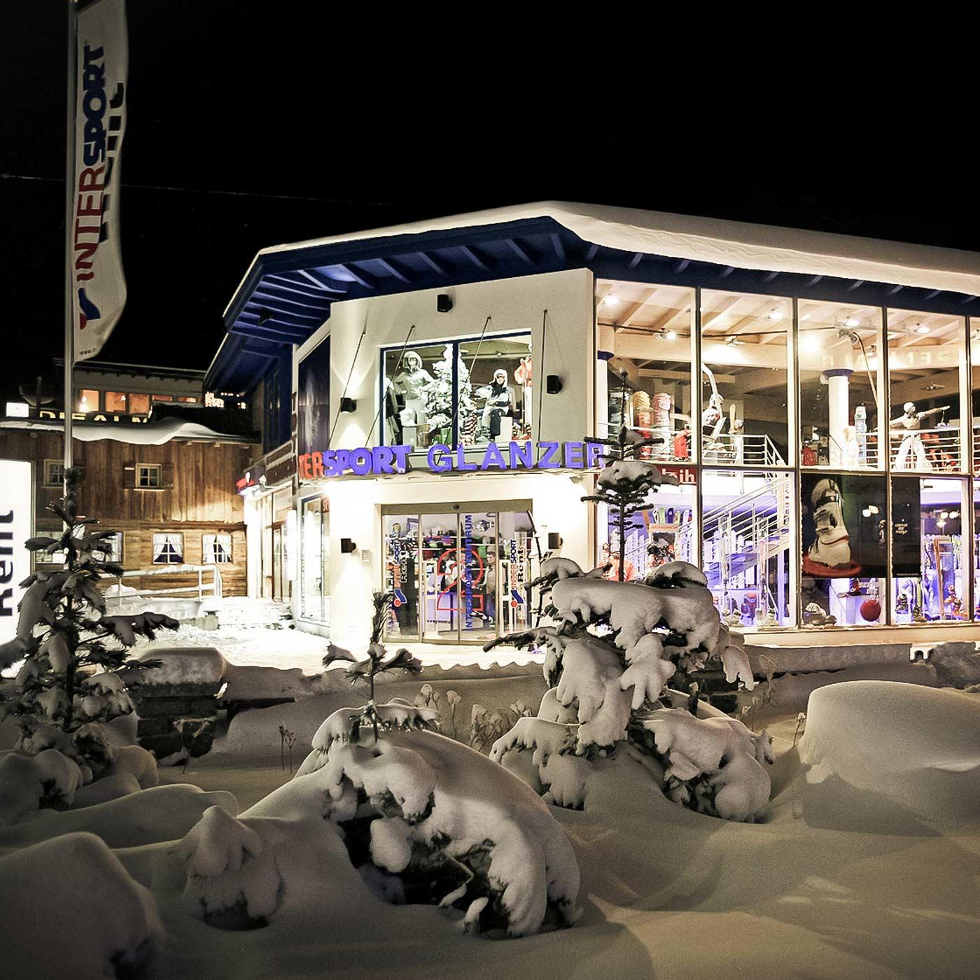 Ski und Bikeverleih im Intersport Glanzer Zentrum Shop